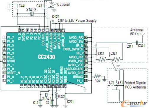 CC2430应用电路