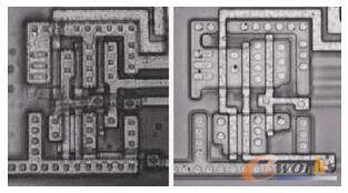 NAND门驱动一个反向器的光学照片