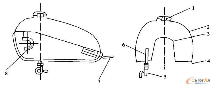 摩托车油箱的造型是要随之更改