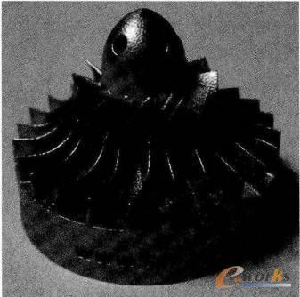 采用3D打印技术制作的涡轮模型