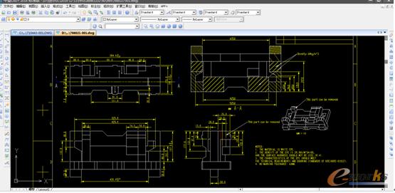 图2 设计部门使用中望CAD完成的设计图纸