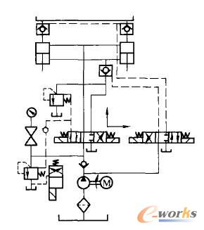 图1是一个小型液压系统