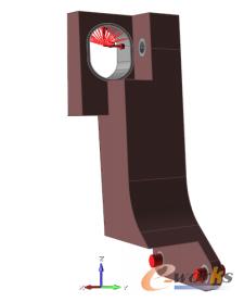 图2 后吊钩的支撑约束和载荷约束
