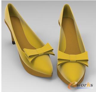 用中望3D快速建模绘制高跟鞋