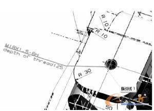 图6 螺纹孔注释表达-基于模型的数字化定义在NX中的实现