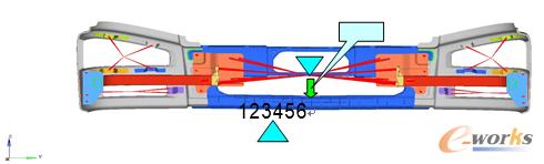 图2 踩踏工况边界条件及载荷示意图