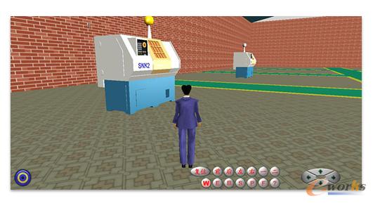 图9 兰光3D可视化车间