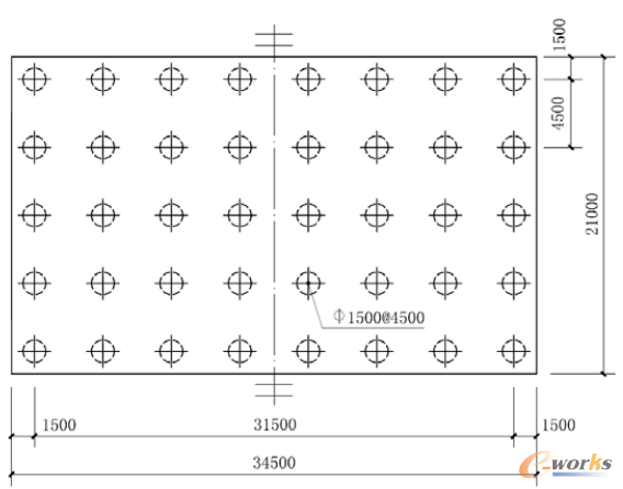 图2 桩位平面布置图