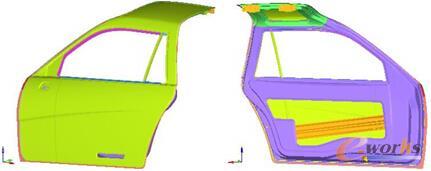 图1 车门模型