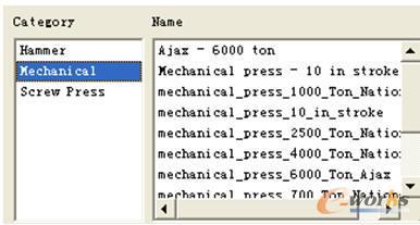 成形设备型号数据库