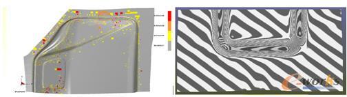 成形板料表面缺陷及光顺度预测