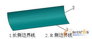 图2 长侧和R侧边界线