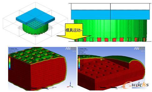 粘合剂在芯片和基体材料间压紧过程