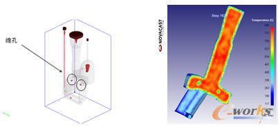 缩孔缺陷在加热过程中的温度场