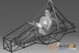 图1 车架CATIA模型