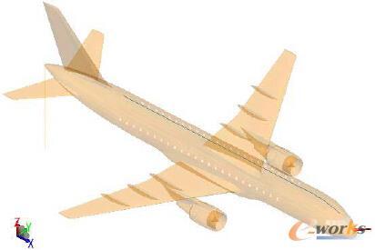 图9 客机雷击的内部线缆布局的仿真模型