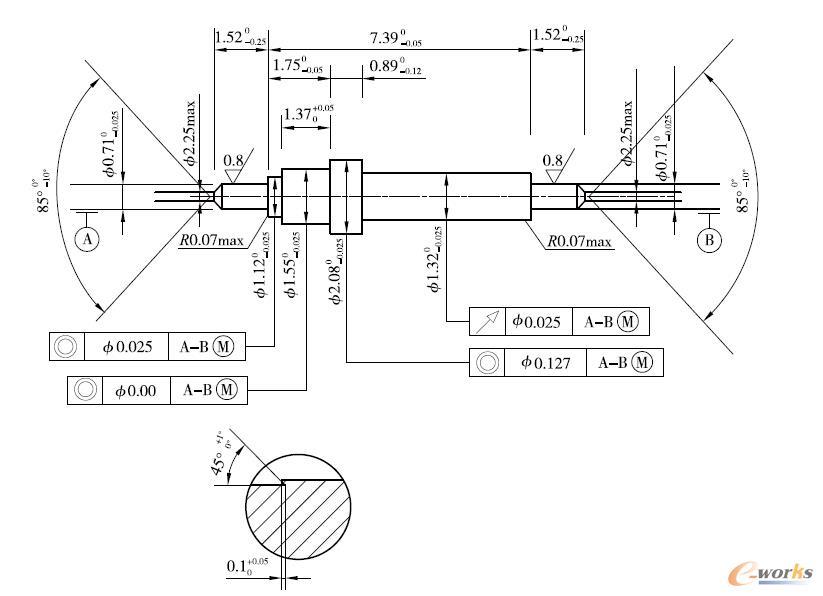 小轴类系统CAD/CAPP/CAM信息集成图纸零件cad模型边框中图片
