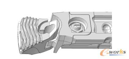 图/采用减厚加筋及穿越式结构,一体成型的刮板