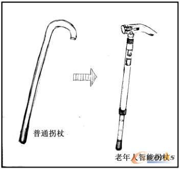 老年人拐杖的智能设计研究_cad_产品创新数字化(plm)图片