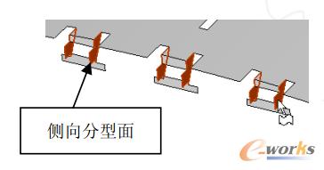图5 侧向分型面设计