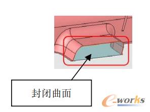 图8 侧向开放面曲面闭合