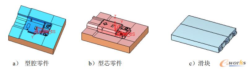 图14 各成型零件设计结果