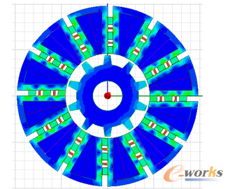 图4-5 第二种结构FSPM磁密云图