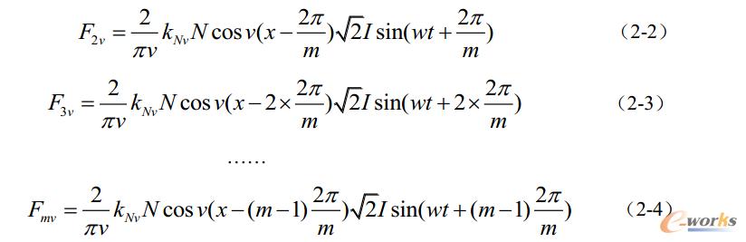 公式2 m-l相绕组产生的磁动势