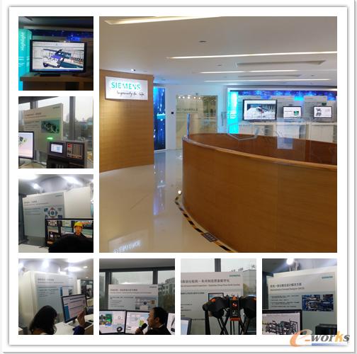 西门子工业4.0创新实验室全貌(右上)及各生产流程