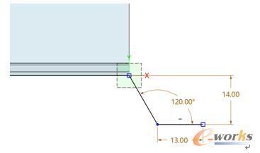 图5 绘制截面草图