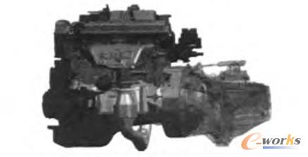 图3 发动机装配设计图