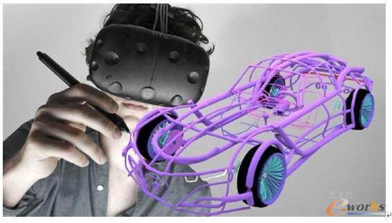 图1 应用虚拟现实三维设计软件Gravity Sketch建模