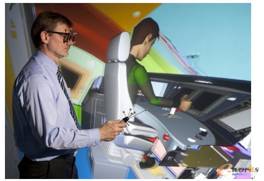 图6 利用虚拟现实技术进行人机工程学验证