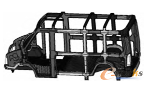 微型客车CAD模型图