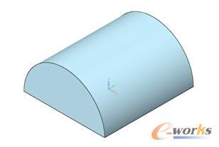 图2 半圆柱体