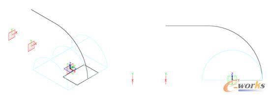图3 草图及平面效果