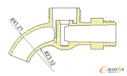 图1 塑料水龙头零件结构