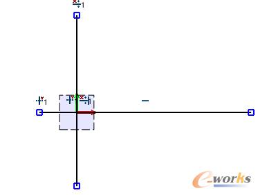 图2 绘制水平线和竖直线