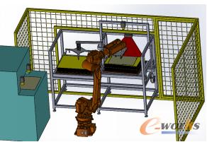 图1 六轴多关节机器人应用于收放板