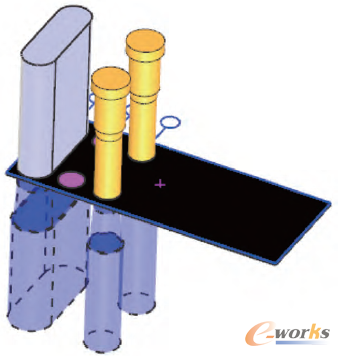 基于NX连中软件的垫片普通冲裁模具设计_CAcad怎样一起在多段线三维图片