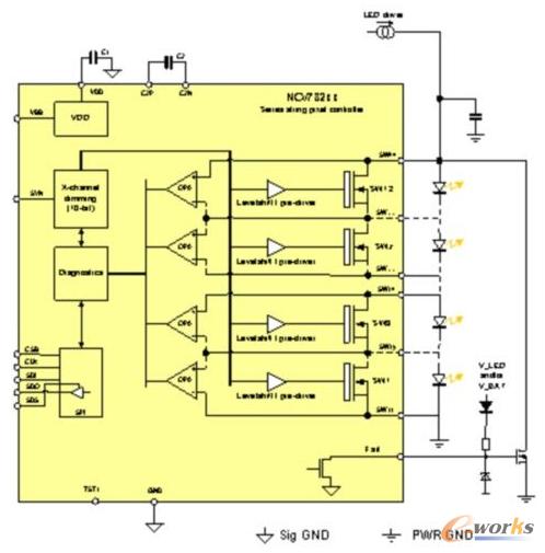 矩阵电路实物图