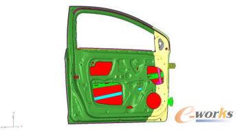图1 车门有限元模型