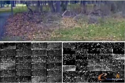 没有路的图片示例。前两层特征映射几乎都是噪声,CNN模型无法从图片中识别出有用的特征。
