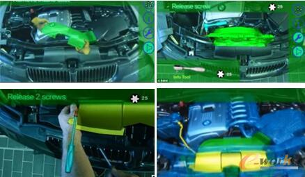 增使用强现实技术,对设备进行维修维护