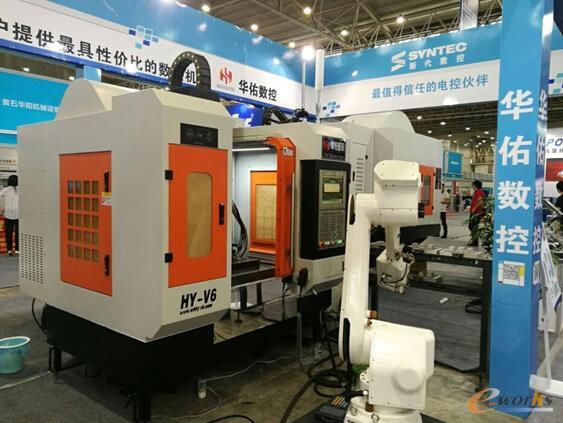 华佑数控HY-V6型机床展示
