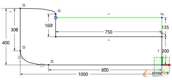图5 坐垫草图