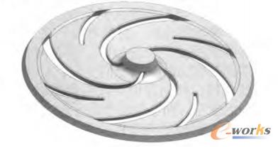 图1 叶轮的设计