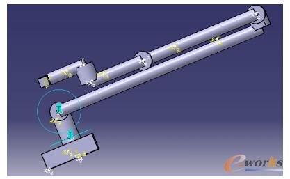 图3 简化的三维实体模型