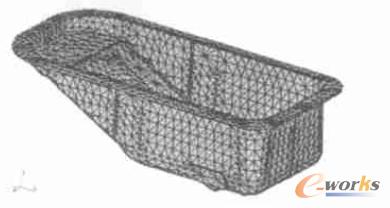 图1 油底壳有限元模型