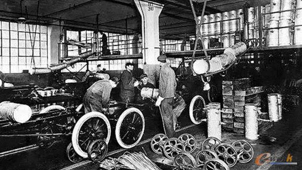 20世纪工业经济时代的生产车间